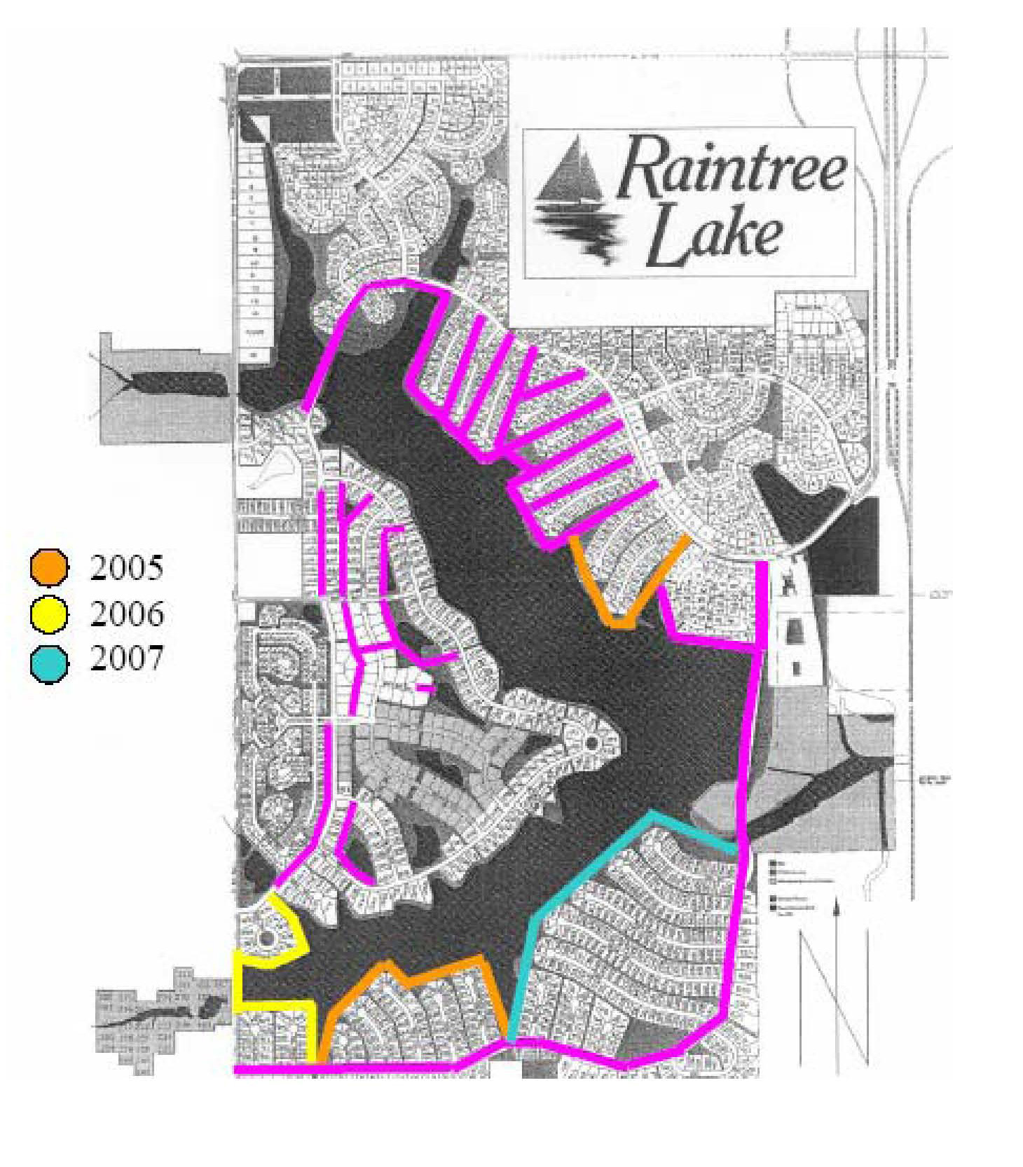 Raintree Lake Walking Trails